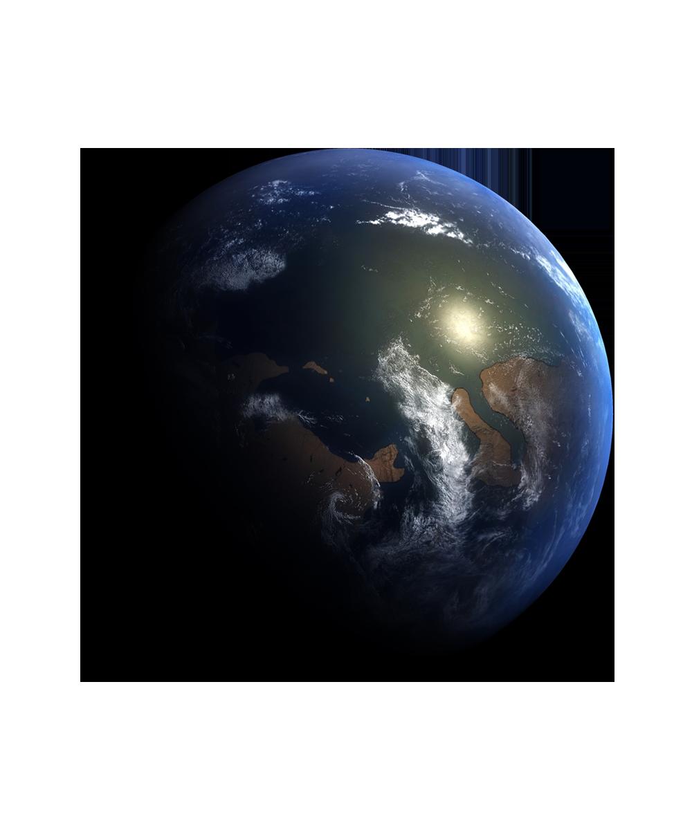 Apparition de la terre